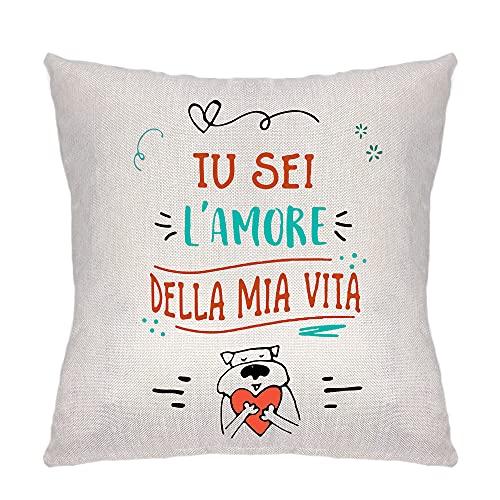 ZCHXD Regalos de San Valentín Funda de cojín Funda para almohada almohada Familia Sala Dormitorio Decoración La Distancia Significa Así cuando alguien (tú eres el amor)