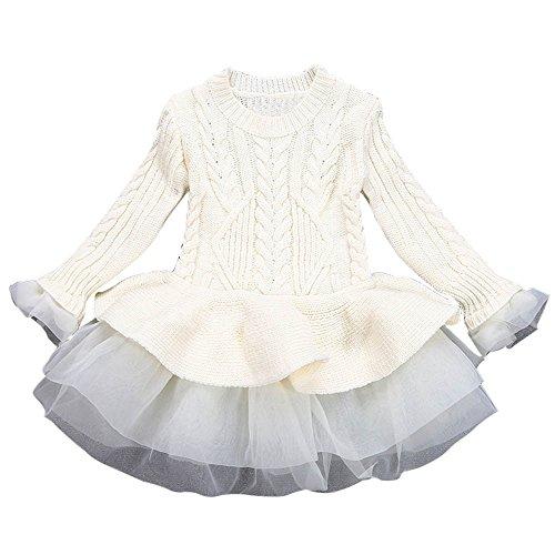Mono Bebé, Niñas bebé Lindo otoño Conejo Vendaje Traje Mini Vestido Conjunto...