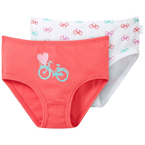 Schiesser Mädchen 2-Pack Hüftslips Unterhose, Mehrfarbig (Sortiert 4 901), 104 (2er Pack)