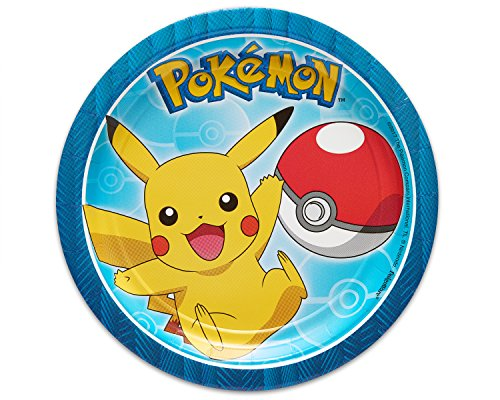 American Greetings Pokemon Paper Dessert Plates for Kids (8-Count)
