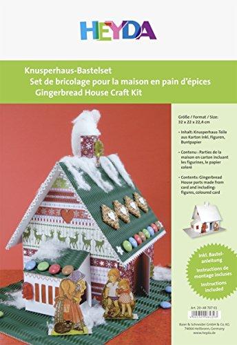 Heyda Knusperhaus-Bastelset, aus weiáem Karton