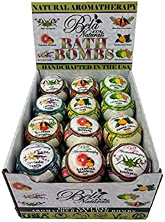 Bela Bath & Beauty, 24 Aromatherapy Bath Bomb Gift, Assorted Scents, Made with Shea Butter and Organic Coconut Oil, Ideal Gift for Any Occasions, 4.5 oz Each - Set of 6