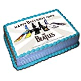 The Beatles Personalized Cake Toppers 1/2 11 x 17 Inches Birthday Cake Topper