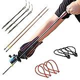 HANDBAIGE Powerful Fishing Slingshot Kit Pro Fishing Reel Catapult Bowfishing Archery Arrows Slingbow Hunting Sling Shot with Arrow Brush, Fishing Reel, & Rubber Bands
