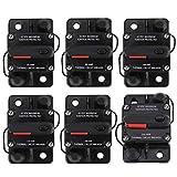 Car Audio Circuit Breaker 50A,80A,100A,150A,200A,250A(Optional) DC12V-42V Manual Reset Car Stereo Audio Inline Circuit Breaker (250A)