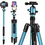 MACTREM Professional Camera Tripod DSLR Tripod for Travel, Super Lightweight and...