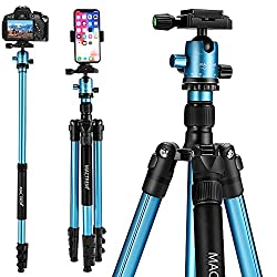 camera tripod mount height lightweight under $100 it's Quality & functionality & adjustment rubber feet helps stability on different surfaces