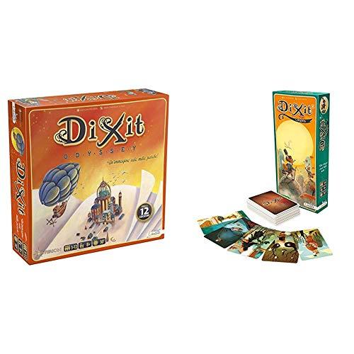 Asterion 8005 Dixit Odyssey, Edizione Italiana. Gioco di società [Nuova Versione] & Dixit 4 Origins Gioco da Tavolo Edizione Italiana, Colore, 8009