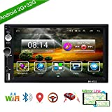 Podofo Android Car Stereo Double Din Car GPS Navigation Multimedia 7 Inch Touch