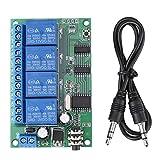 Liyeehao Relé decodificador de señal de Tono DTMF, relé, protección de polaridad inversa DC 12V Control Remoto del teléfono para detectar