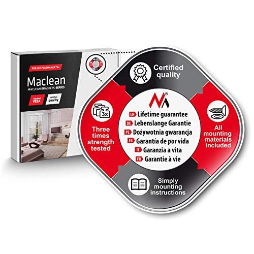 Maclean MC501B support mural pivotant double bras compatible avec les tv de 13-42 poces pour les écrans LCD Plasma LED TV, Panasonic, Philips, Sony, LG, Loewe, Toshiba, Samsung, Medion, Sharp, Orion, etc Max VESA 200x200