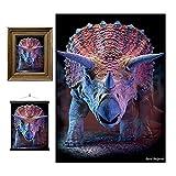 3D LiveLife Lenticular Cuadros Decoración - Triceraptop de Deluxebase. Poster 3D sin marco de dinosaurios. Obra de arte original con licencia del reconocido artista, David Penfound
