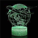 3D noche luz táctil lámpara de escritorio lámpara de mesa con...