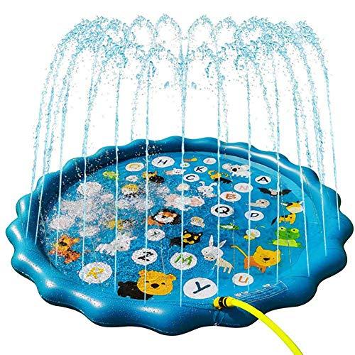 Splash Pad de riego, 170cm Splash alfombra de juego, al aire libre Splash Pad, material de PVC, Verano infantil Esenciales spray juguete, adecuado for niños y el jardín al aire libre Actividades famil