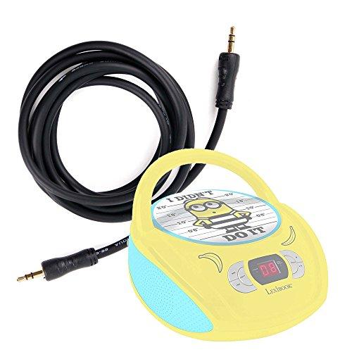 DURAGADGET Cable De Audio para Lector de CD Despicable Me GRU Mi Villano Favorito   Minnie Mouse   Star Wars   Soy Luna   GRU: Mi Villano Favorito   Unicornio - Entrada de 3.5mm Y Bañado En Oro
