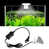 Senzeal M3 Aquarius Aquarium Fish Tank Light US 5W 12 LED Fan Shaped Aquarium Planted Clip Lamp 600LM for 4-10 Inch Fish Tank White Lighting