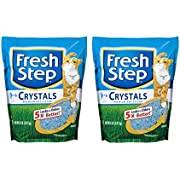 Fresh Step Cat Litter Lightweight 10-Day Odor Control Dust-Free Crystals 2-8lb Bags (16lb Total)