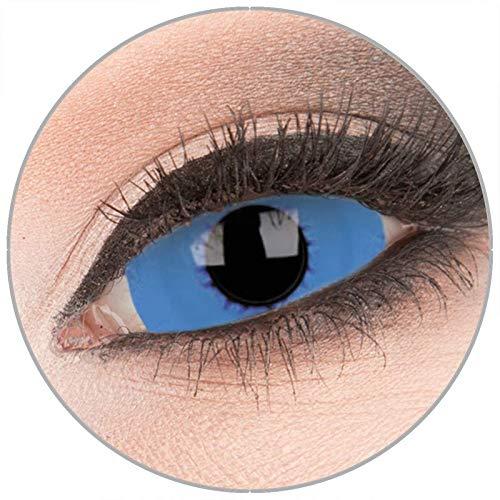 Farbige 'Graviton' 22 mm Sclera Kontaktlinsen von 'Evil Lens' zu Fasching Karneval Halloween 1 Paar blaue Crazy Fun Kontaktlinsen mit Behälter in Topqualität ohne Stärke
