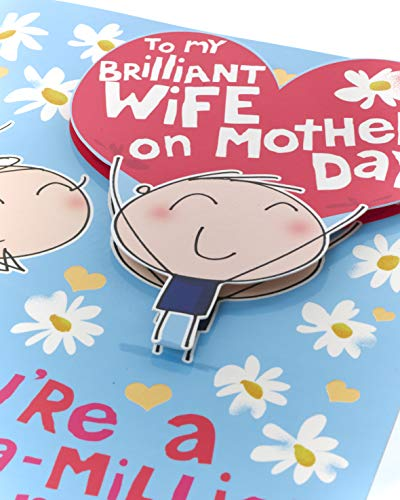 Mother's Day Card Wife - Lovely Mother's Day Card from Husband to Wife - Brilliant Wife Mother's Day Card - Happy Mother's Day Wife Card - Mother's Day Wife Card from Husband - Lovely Verse