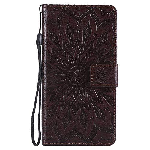 Jeewi Hülle für LG X Power 2 / M320N Hülle Handyhülle [Standfunktion] [Kartenfach] [Magnetverschluss] Tasche Etui Schutzhülle lederhülle flip case für LG X Power2 - JEKT031852 Braun