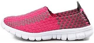 Happy-L Shoes, Men's Fashion Strip Pattern Athletic Shoes Classical Simple Design Slip On Splice Vamp Leisure Sneaker