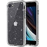 SouliGo - Carcasa para iPhone SE 2020, iPhone 8, iPhone 7, carcasa transparente con purpurina brillante, flexible, ajuste delgado, a prueba de golpes, para iPhone 7/8/SE 2020 de 4,7 pulgadas