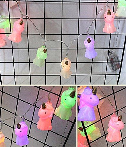 JYSPORT LED Einhorn Lichterketten LED Streifen Kürbis Flamingo Halloween Deko Party Dekoration...