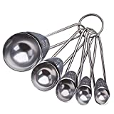 5 unids / set cuchara medidora de acero inoxidable café, leche en polvo, cuchara de condimento, balanza de cocina, cucharaditas para hornear