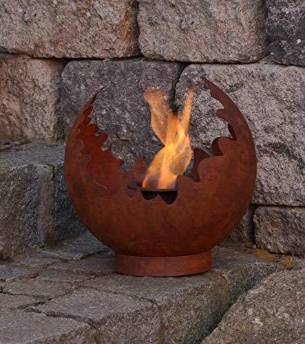 Garten Himmel Edelrost Deko Feuerkugel