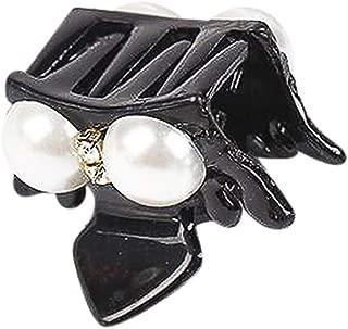 Women's Classics Mini Crown Claw Clip Pearl Diamond Hair Clip Hairpin Barrette Comb Accessory