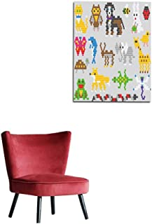 Wall Sticker Decals Mosaic animal vector animalistic abstract character cat dog and dolphin in kids game illustration childish set of toys owl or butterfly isolated on background mural 32