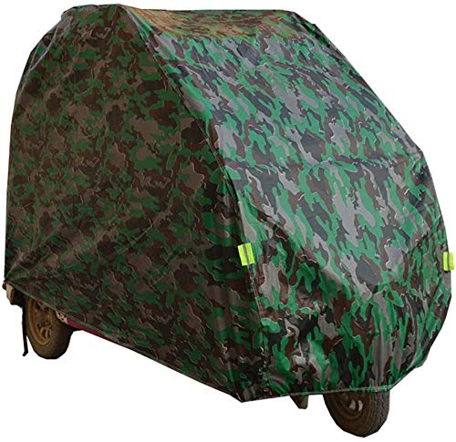 DSHUJC Fully Enclosed Mobility Scooter Cover, Oxford Heavy Duty Prevent Rain Wind Dust Sun UV Waterproof Cover for Electric Tricycle/Four Wheeler Scooter