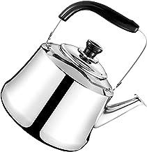 Cabilock Czajnik na wodę o pojemności 3 l z drewnianym uchwytem, czajnik z gwizdkiem, czajnik na wodę ze stali nierdzewne...