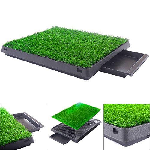 KCHEX Dog Potty Home Training Toilet Pad Grass Surface Pet Park Mat Outdoor Indoor