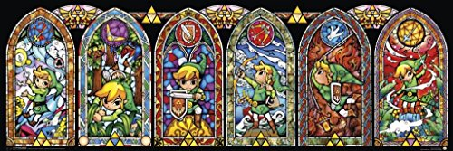 Pyramid America Legend of Zelda Stained Glass Windows Video Gaming Poster 36x12 inch