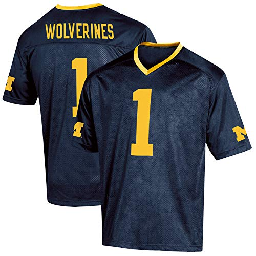 Knights Apparel NCAA Michigan Wolverines Youth Replica Football Jersey, Large-Size 14/16