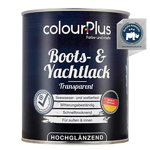 colourPlus® 1K Bootslack & Yachtlack (750ml, transparent) Bootslack Holz - Schiffslack - Bootslacke - Boot Lack - Klarlack Holz - Made in Germany