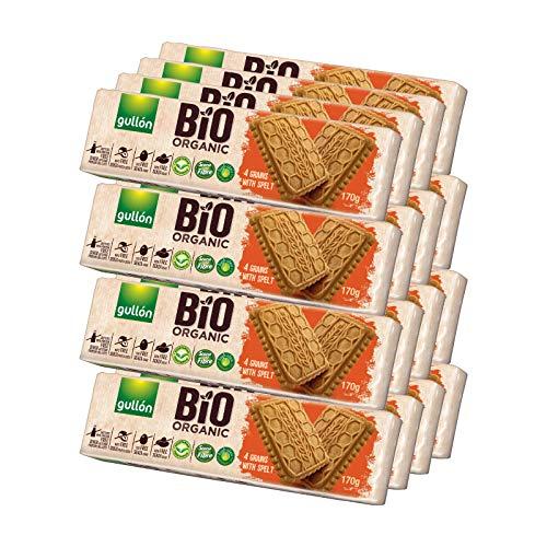 Gullón - Galleta Espelta 4 Cereales BIO Organic, 2.720 g, Pack de 16