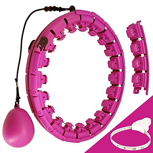 RenhuangFuxi Aros de fitness Hula con peso para adultos, tamaño ajustable, anillo inteligente para ejercicios de adultos, ejercicio en interiores, aros con peso para mujeres, hombres, jóvenes y niños