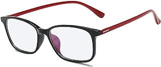 Anti Blue Light Clear Glasses Reduce Eyestrain Computer Glasses Square TR90 Frame Optical Glasses Square Frame Black