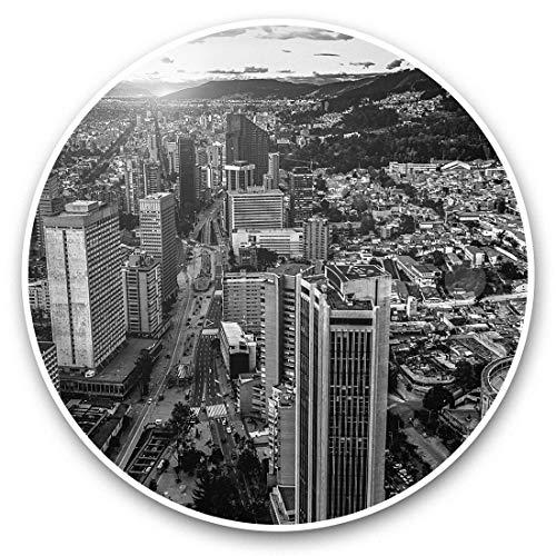 Impresionantes pegatinas de vinilo (juego de 2) 30 cm BW – Downtown Bogotá Colombia City Fun Decals para portátiles, tabletas, equipaje, reserva de chatarras, frigoríficos, regalo fresco #42812