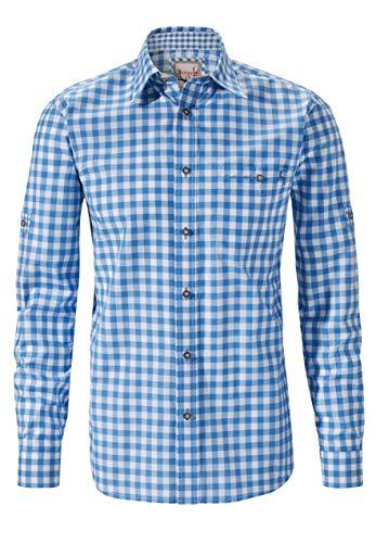 Stockerpoint Herren Hemd Mitchel Freizeithemd, Blau (Azur), Large