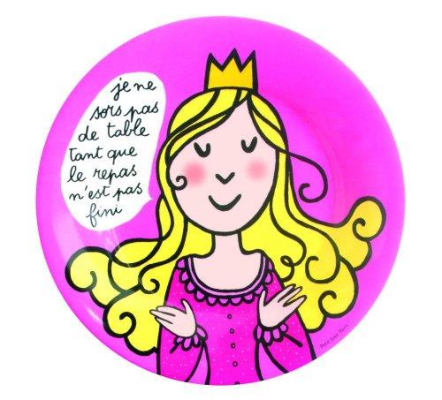 Assiette à dessert Princesse enfant Je ne sors pas de table - Petit Jour Paris