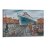 SJYJQ Joe Ramm Poster, Schiffsform und Bristol, Mode,