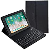 iPad Case with Keyboard, 9.7 inch Alpatronix KX130 Leather iPad Cover w/Detachable Wireless Bluetooth Keyboard Compatible w/Apple iPad 6 (2018)/iPad 5 (2017)/iPad Pro 9.7 & iPad Air 2&1-Black