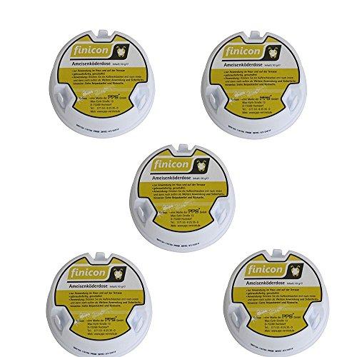 5 x Finicon Ameisenköderdose Ameisengift Ameisenmittel