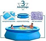 Piscina Hinchable,Piscinas Desmontables con Depuradora con Hinchable Filtro para Niños Baño De Adultos,244cm*76cm Frame Pools