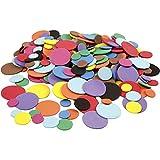 Círculos de espuma EVA, D: 12+20+32 mm, colores variados, 300asstd