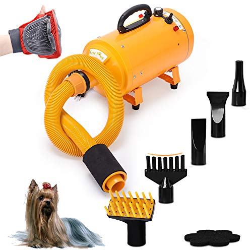 Free Paws Dog Dryer 4.0 HP 2 Speed Adjustable Heat Temperature Pet Dog Grooming Hair Dryer Blower...