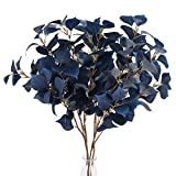 AILANDA 4PCS Artificial Eucalyptus Stems 31.5' Long Fake Flowers Silver Dollar Eucalyptus Leaf Branches Blue Silk Greenery Stems for Floral Arrangement Home Wedding Table Centerpieces